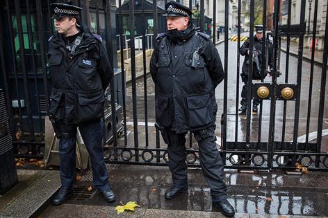 Polizeiaufgebot in London