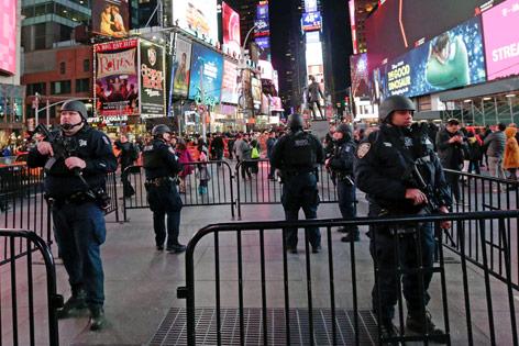Polizeiaufgebot in New York