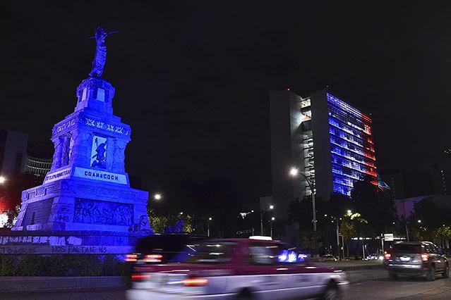 Beleuchteter Mexikanischer Senat
