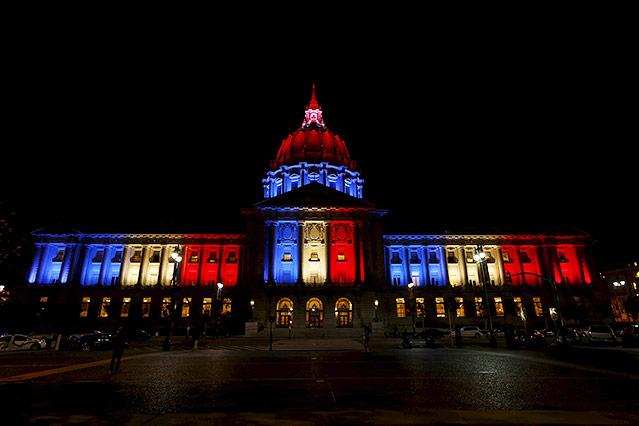 Beleuchtete San Francisco City Hall