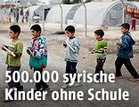 Syrische Kinder in einem türkischen Flüchtlingscamp