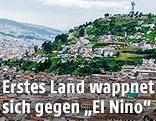 Blick über Quito, der Hauptstadt von Ecuador