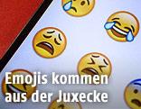 Emojis auf einem Handy-Display