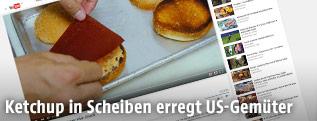 Getrocknetes Ketchup in Scheiben