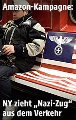 Amazons Werbung mit Nazi-Symbolen in New Yorker U-Bahn