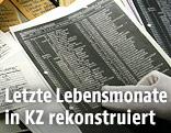 Mann mit Nazi-Schriftstücken
