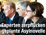 Werner Faymann (SPÖ), Johanna Mikl-Leitner (ÖVP),  Reinhold Mitterlehner (ÖVP) und Sebastian Kurz (ÖVP)