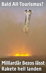 """Landung der """"New Shepard"""""""
