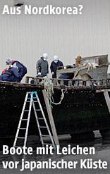 Holzboot wird untersucht