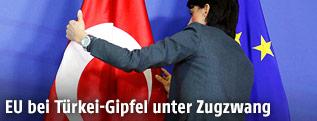 Türkische und Europäische Fahne