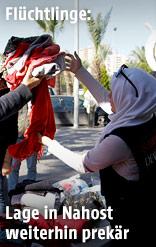 Verteilung von Winterkleidung an Flüchtlinge im Libanon