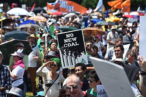 Demonstranten in Sydney