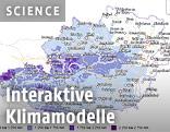 Klimakart von Österreich zeigt Häufigkeit des Niederschlags