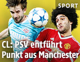Davy Propper (PSV) gegen Marouane Fellaini (ManUnited)