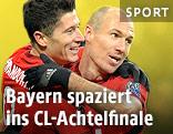Robert Lewandowski und Arjen Robben (Bayern)