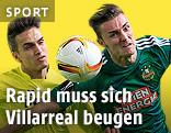 Denis Suarez (Villarreal) und Mario Pavelic (Rapid)
