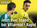 Denis Suarez (Villarreal) und Tobias Knoflach (Rapid)