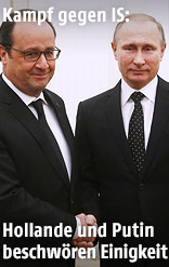 Francois Hollande und Vladimir Putin