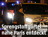 Polizeiauto in Montrouge nahe bei Paris