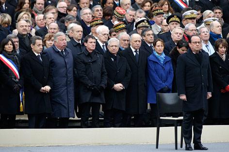 Gedenkfeier in Paris