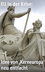 Europa-Gruppe des Albert Memorials im Londoner Hyde Park