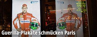 Guerilla-Plakat in Paris