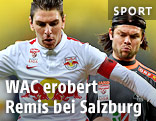 Jonatan Soriano (Salzburg) gegen Nemanja Rnic (WAC)
