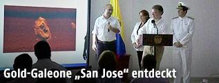 """Pressekonferenz zum Fund der """"San Jose"""""""