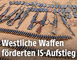Beschlagnahmte Waffen des IS