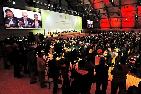 Konferenzraum des Klimagipfels