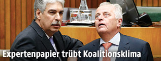 Minister Hansjörg Schelling und Minister Rudolf Hundstorfer