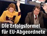EU-Abgeordnete während einer Abstimmung im EU-Parlament