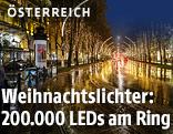 Beleuchtung am Ring in Wien