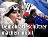 Demonstrantin in Polen