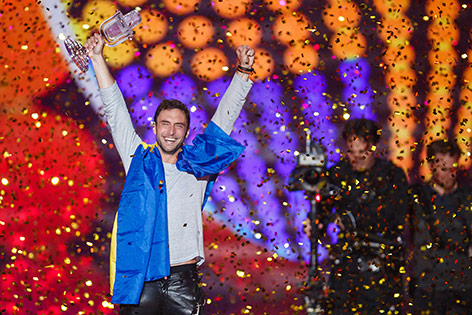 Mans Zelmerlöw beim Song Contest 2015