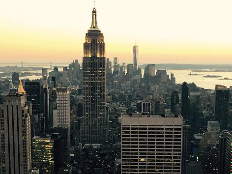 Manhattan in der Dämmerung