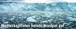 Eisschollen auf dem Nordpol