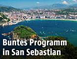 Luftansicht von San Sebastian