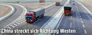 Die chinesische Autobahn Lianyungang–Khorgas Richtung Kasachstan