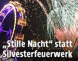 Silvesterfeuerwerk über dem Wiener Prater