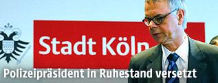 Kölner Polizeipräsident Wolfgang Albers