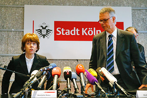 Kölns Oberbürgermeisterin Henriette Reker und Kölns Polizeipräsident Wolfgang Albers