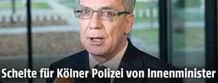 Der deutsche Innenminister Thomas de Maiziere