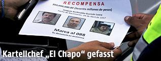 """Fahndungsfotos von Joaquin """"El Chapo"""" Guzman"""