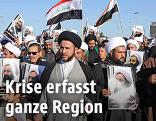 Protestierende in der Nähe von Bagdad