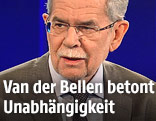 Bundespräsidentschaftskandidat Alexander Van der Bellen