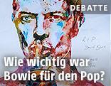 Gemaltes Porträt von David Bowie