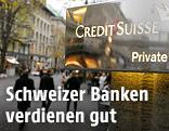 """Schriftzug der """"Credit Swisse"""""""