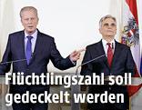 Bundeskanzler Werner Faymann und Vize Reinhold Mitterlehner