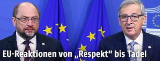 Martin Schulz und Jean Claude Juncker